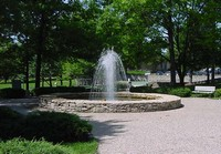 The fountain at Joe D. Dennis Park